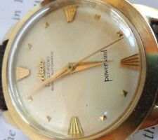 14k Gold 1960's Vintage Men's Mido Multifort Super Automatic Powerwind Watch