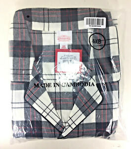 NEW Wondershop Holiday Plaid WHITE Flannel Matching Family PAJAMA SET Men's 5XB