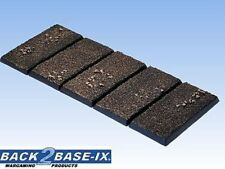 50mm x 25mm Resin Bases (5) Square Dirt Warhammer