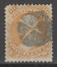 US  # 71 VF used 1861 series , 30 cts, fancy cancel cv= $ 200