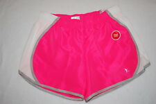 Womens HOT PINK WHITE & GRAY LINED FITNESS SHORTS Loose Fit DRI-MORE Size M 8-10