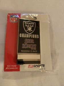 Los Angeles Raiders Super Bowl Banner Pin BRAND NEW JF SPORTS