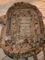 USMC Marine Corps Desert Marpat Backpack Large 3 Day Assault Bag w/ zippered ext