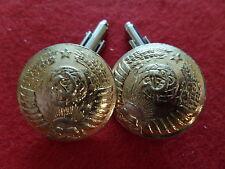 Boutons de manchette Cufflink 25 mm 1976 GÉNÉRAL RUSSIE RUSSIA CCCP URSS USSR