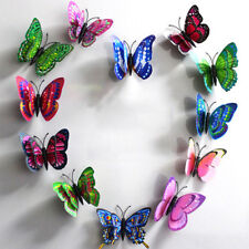 10pcs Artificial Butterfly Luminous Fridge Magnet for Home Christmas Wedding