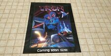 Tron Original Poster 1982 - Advertising Home Video Release