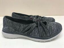 Womens Skechers Microburst Knot Concerned Black Grey 23562/BKGY