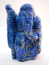 Netsuke Lapislazuli China Figur Lapis Lazuli Chinese Figure Figurine - 1