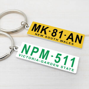 Personalized Car License Plate Keychain Car Number Tag Keyring Anti-lost Gift
