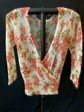 Free People Women's Casual Sweater Top, Floral Print, Size Small