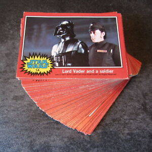 STAR WARS ~ FULL SET Red, series 2, vintage movie trading cards ~ Topps UK, 1977