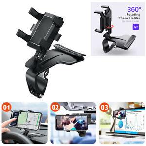 Multifunction Car Dashboard Sun Visor Mount Phone Holder Stand Rearview Mirror