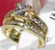 Anillos de bisutería anillo de compromiso de oro amarillo