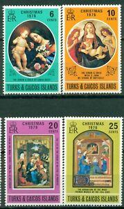 Turks & Caicos Islands Scott #317-320 MNH Christmas 1976 Art $$