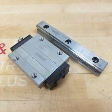 Thk Hsr25 Linear Guide Rail Bearing Block For 25mm Rail 2 34x 3 18 Used