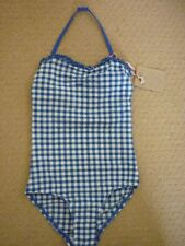 JOHNNIE BODEN PRETTY SWIMSUIT in SKIPPER/IVORY GINGHAM. 7-8 YEARS NEW 96064