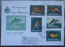 San Marino FDC - 1966 Fauna Marina First Day Cover