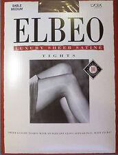 Elbeo Medium Size Luxury Sheer Satine Gloss 10 Denier Tights in Sable Shade