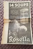 Rosella Tinned Soup - 1936 Advertisement