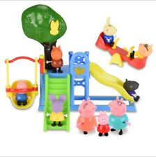 Movie Figures Peppa Pig Family & Friends With Light Slide Amusement Park TV Toys
