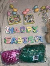 Happy Easter Lot: Wooden Letters, Easter Tree, Easter Ornaments