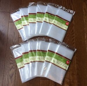 12 Clear Shower Curtain Liners Magnetic Mildew Resistant 100% PEVA Bulk Lot USA