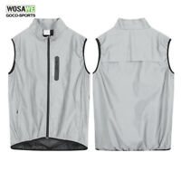 Men's Cycling Vest Windproof Waterproof MTB Bike Jacket Bicycle Reflective Vest