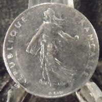 CIRCULATED 1976 1 FRANC FRENCH COIN(101618)1.....FREE DOMESTIC SHIPPING!!!!!