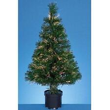 60cm Fibre Optic Crystal Tip Christmas Tree Multi Colour Effects