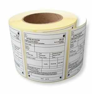 CN22 labels Customs Declaration x 20 Labels - NEW 2021 style