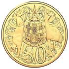 2016 Australia 50 Cents 50c Round Gold Plated WMF Privy Mark Coin NGC MS69