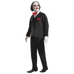 Saw Costume Adult Billy the Puppet Halloween Fancy Dress