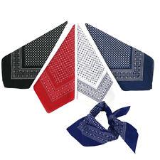 Fashions Large 100% Cotton Polka Dot Bandana Scarf Neck Wrist Tie