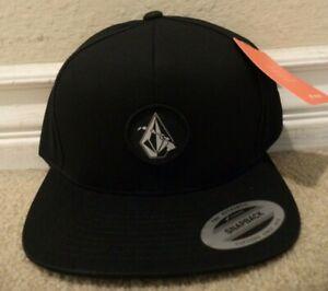 VOLCOM ISLAND STONE TWILL HAT - SAMPLE BLACK SNAPBACK CAP *NWT*