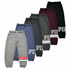 Victoria's Secret Pink Sweatpants Campus pantalón bolsillos de logotipo gráfico Salón vs Nuevo