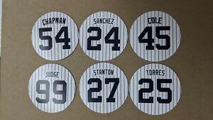 New York Yankees Magnets 2021 - Gerrit Cole, Judge, Sanchez, Gleyber, Stanton