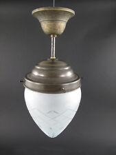 Deckenlampe Lampe Messing brüniert mit Schirm Leuchter antik Stil 215.025-2K