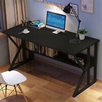 "47"" Home Desk Student Writing Desktop Desk Modern Office Computer w/Shelf Black"