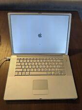 Apple POWERBOOK G4 17'' 1.5 ghz WORKING CONDITION Mac OS X