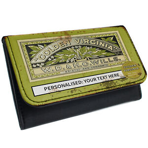 Personalised Tobacco Pouch Vintage Rolling Baccy Retro Smoking Christmas Gift