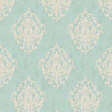 Confezione di 5 Casa delle Bambole Blu Uovo D'Anatra fogli di carta da Parati Floreale Diamante