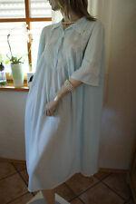GABY Paris Nylon Negligee Nachtkleid hellblau Spitzenbesatz bezaubernd Luxus 52