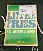 Letterpress A Clever Game Of Words - Osprey Games (Genuine Sealed Board Game)