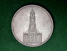 Germanythird REICH 5 Marco Coin 1934 (D) ARGENTO 900 Aquila Tedesca, SVASTICA