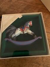 New ListingHallmark Keepsake Ornament Rocking Horse 1984 Series #4 4th with Box