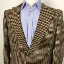 Angelo Roma Custom Tweed Blazer Sport Coat Mens 42L James Bond Tailor Jacket