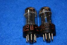 6SN7GTB Philco Audio Receiver Guitar Vacuum Tubes Tested Pair