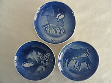 THREE (3) B&G Mother's Day Blue & White Porcelain Plates: 1970 - 1971 - 1972
