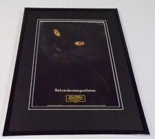 1989 Johnnie Walker Black Scotch Framed 11x14 ORIGINAL Vintage Advertisement