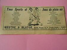 Pub Jeux de plain air Mestre & Blatgé Hockey Boxe etc Image Print 1925